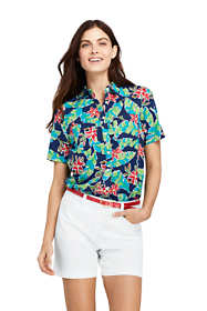 Women's Casual Button Front Print Shirt