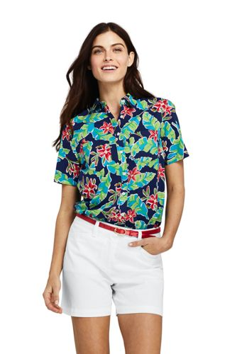 Women's Soft Floral Short Sleeve Shirt