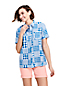 Women's Patchwork Short Sleeve Shirt