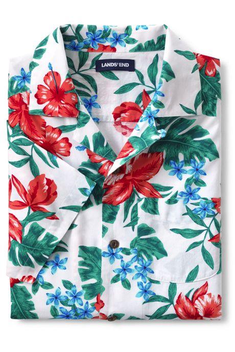 Men's Traditional Fit Short Sleeve Camp Collar Hawaiian Shirt