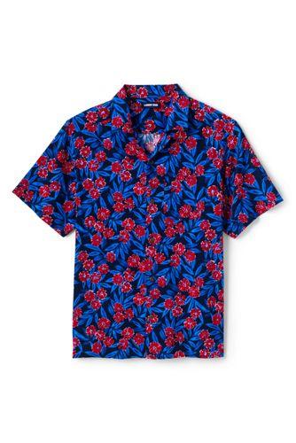 Chemise Hawaienne à Manches Courtes Coupe Classique, Homme Stature Standard