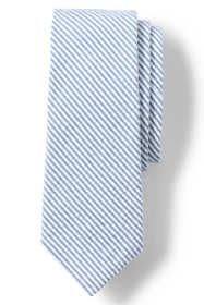 Men's Cotton Seersucker Tie
