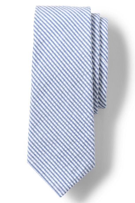 Men's Cotton Seersucker Tie
