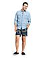 Men's Patterned Shorts with Elastic Waist