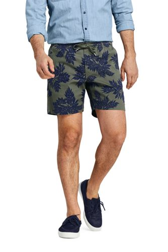 Leichte gemusterte Stretch-Shorts für Herren