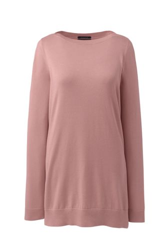 Women's Supima Cotton Boatneck Tunic Jumper