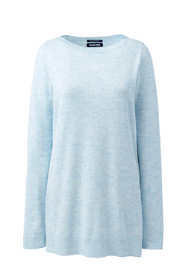 Women's Tall Long Sleeve Supima Boatneck Tunic Sweater