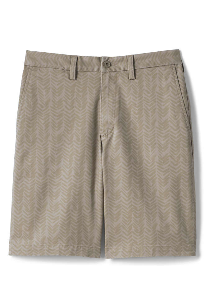 Men's 9 Inch Traditional Fit Stretch Printed Knockabout Chino Shorts, Front
