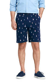 Men's 9 Inch Traditional Fit Stretch Printed Knockabout Chino Shorts
