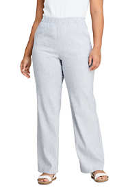 Women's Plus Size Wide Leg Linen Blend Pants