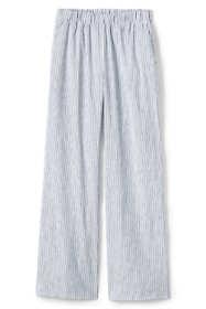 Women's Plus Size Wide Leg Linen Blend Pants