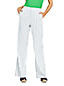 Women's Petite Wide Leg Stretch Linen Striped Trousers