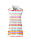 Women's Petite Sleeveless Polo Shirt in Supima Cotton Print