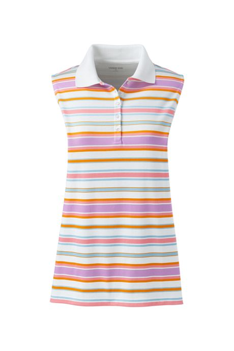 5305ae8c2 Women's Plus Size Sleeveless Print Supima Cotton Polo, School Shirts ...