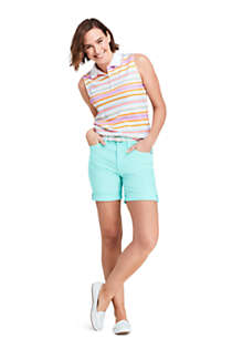 Women's Petite Sleeveless Print Supima Cotton Polo Shirt, Unknown