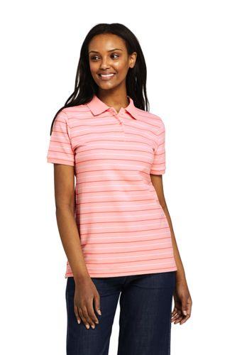 Women's Plus Stripe Piqué Polo Shirt