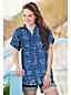 Women's Patterned Linen Popover Tunic