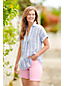 Women's Patterned Linen Popover Tunic