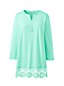 Women's Lace Trimmed Tunic Top