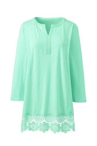 Tunika mit Spitze aus Baumwoll/Modalmix für Damen