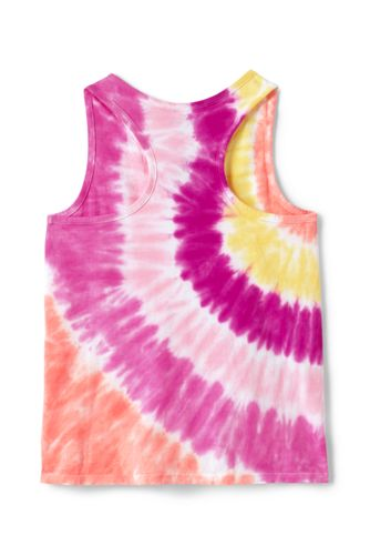 Lands' End - Little Girls' Tie Dye Racer Back Cotton Vest Top - 2
