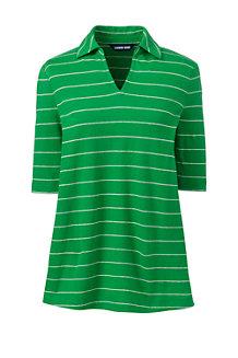 Shirt mit Polokragen aus Leinenmix