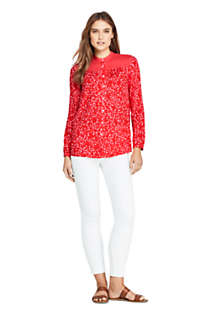 Women's Petite Casual Pattern Soft Blouse, Unknown