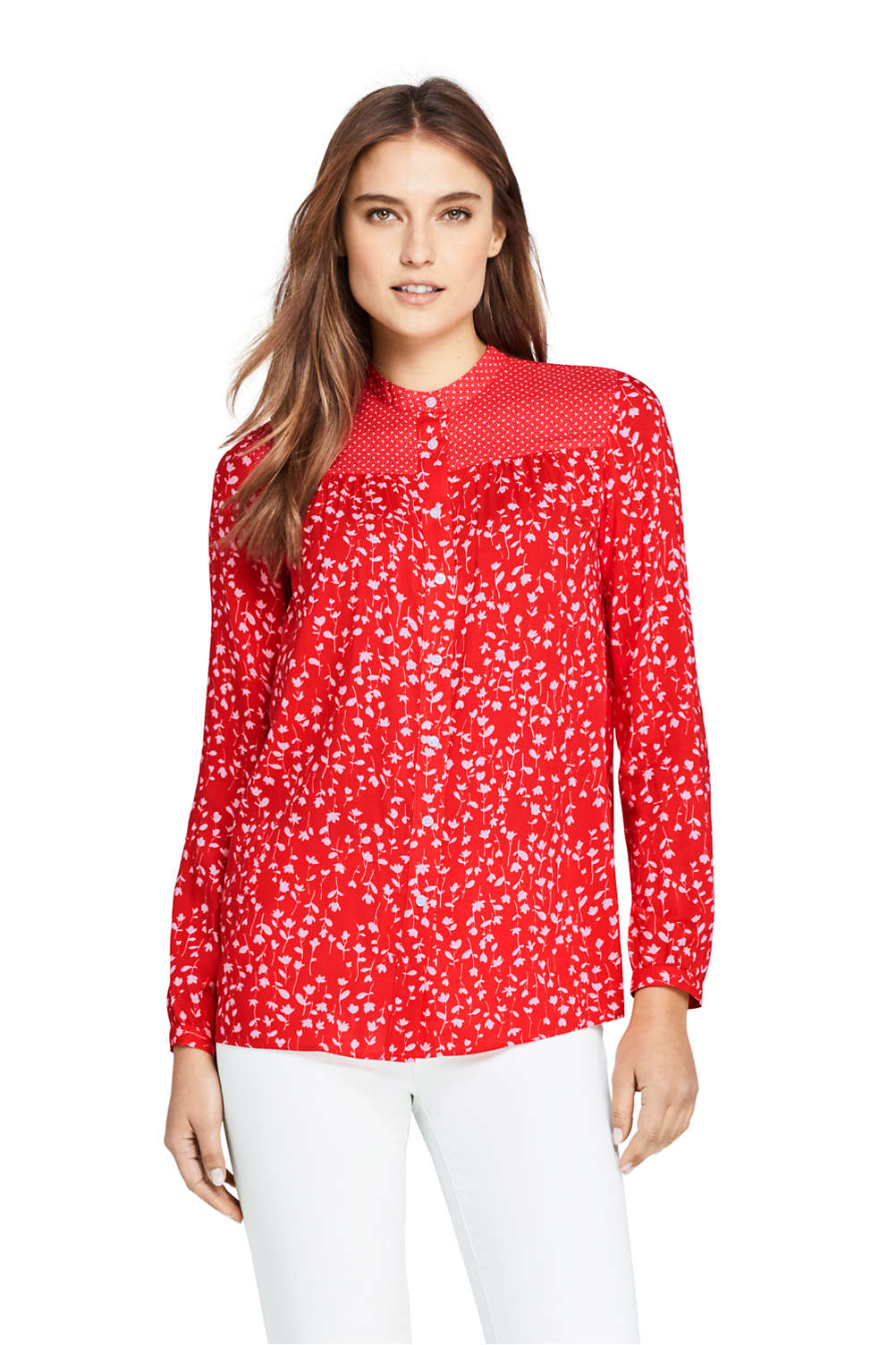 ca5f76f7d4 Women s Casual Pattern Soft Blouse from Lands  End