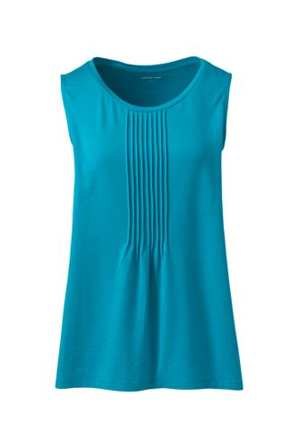 Women's Cotton-modal Pintucked Vest Top