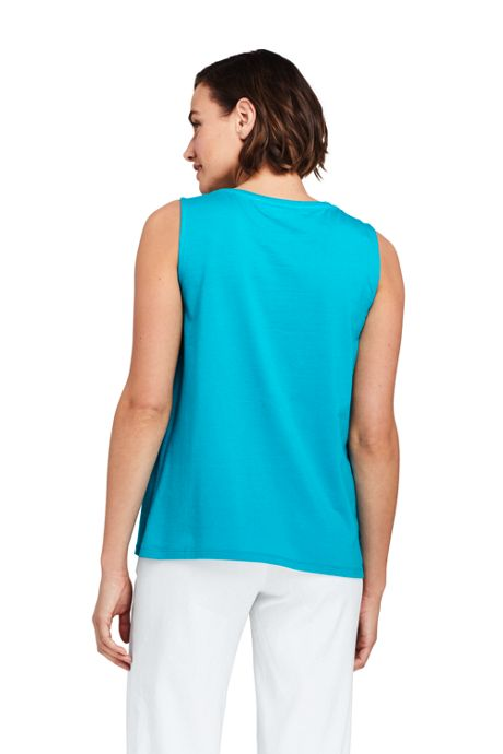 Women's Petite Pintuck Tank Top