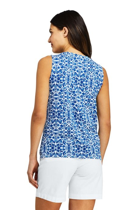 Women's Tall Pintuck Tank Top Print