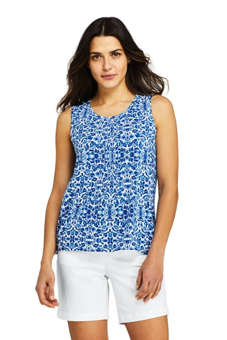 Women's Pintuck Tank Top Print