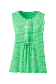 Women's Tall Women's Petite Pintuck Tank Top Stripe