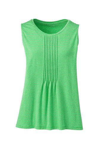 Women s Petite Stripe Cotton-modal Pintucked Vest Top 0f83faf766d