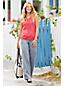 Women's Petite Stripe Cotton-modal Pintucked Vest Top