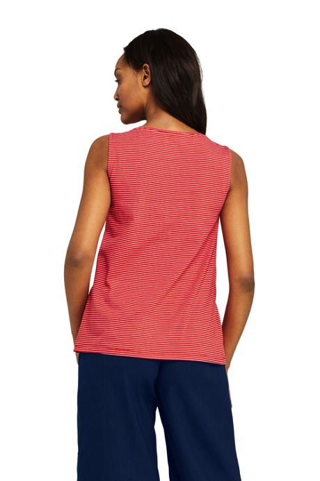 Women's Pintuck Tank Top Stripe