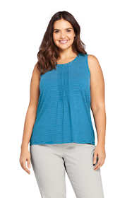 Women's Plus Size Pintuck Tank Top