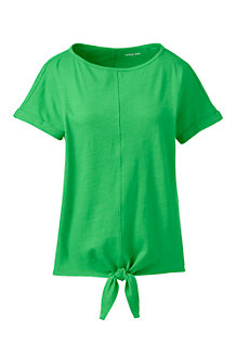 T-Shirt Ourlet à Nouer, Femme
