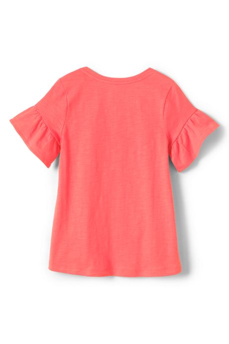 Girls Plus Ruffle Sleeve Top