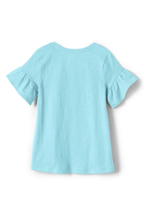 Girls Ruffle Sleeve Top