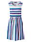 Women's Scoop Neck A-line Patterned Jersey Dress
