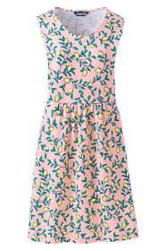 Women's Tall Sleeveless Knit Print Aline Dress