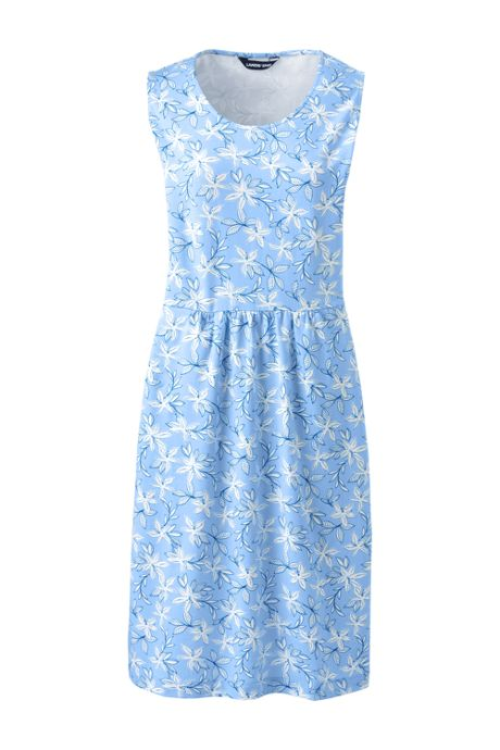 Women's Sleeveless Knit Print Aline Dress