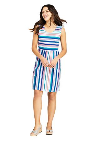 4a7179675bed3 Women's Scoop Neck A-line Patterned Jersey Dress | Lands' End