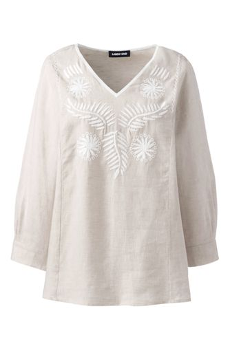 Women's Embroidered Linen Blouse