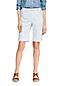 Bermuda Chino Stretch Herringbone Taille Mi-Haute, Femme Stature Standard