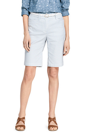 c1bc0cc46 Women's Mid Rise Herringbone 10″ Bermuda Chino Shorts | Lands' End