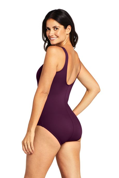 Women's DD-Cup Chlorine Resistant Tugless One Piece Swimsuit Soft Cup