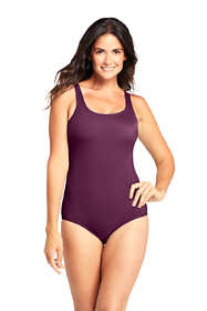 Women's Mastectomy Chlorine Resistant Tugless One Piece Swimsuit Soft Cup