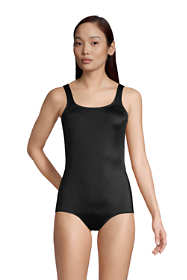 Women's Long Chlorine Resistant Tugless One Piece Swimsuit Soft Cup with Tummy Control
